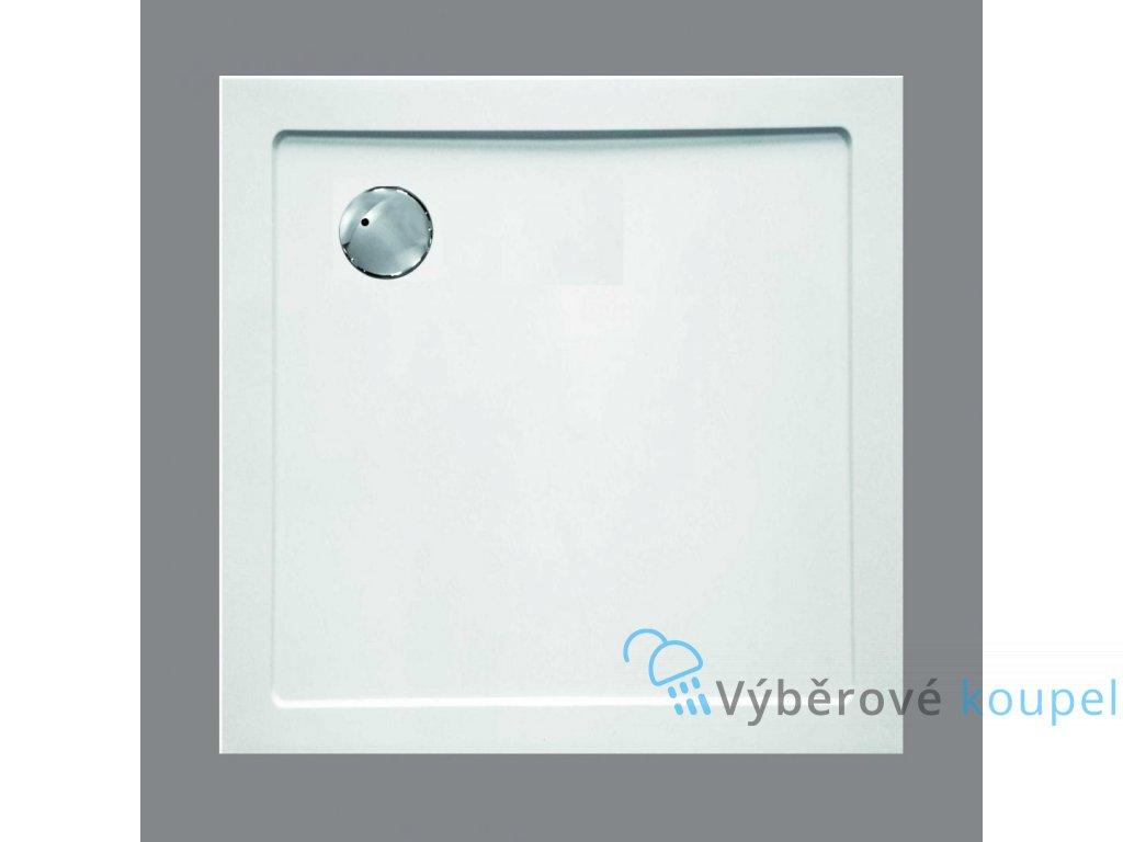 Sanotechnik sprchová vanička, SMC tvrzený polymer, čtverec, 100cm, SC1010S (Nožičky S nožičkami (15ks))