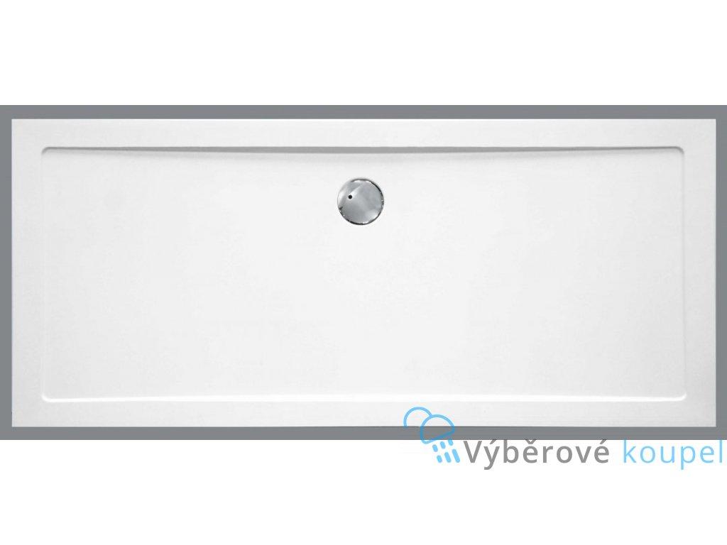 Sanotechnik sprchová vanička, SMC tvrzený polymer, obdélník, 120x80cm, SC1280S (Nožičky S nožičkami (12ks))