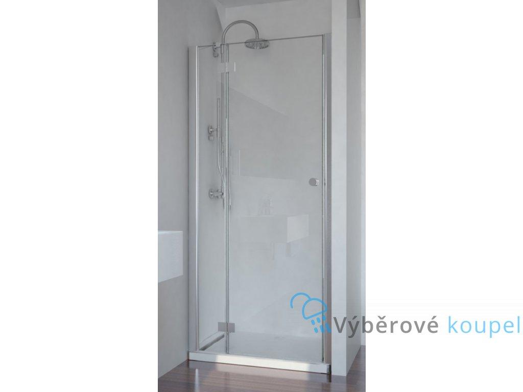 Sanotechnik Smartflex sprchové dveře, šířka 80cm, otevírací s pevnou částí + nástěnný profil (Šírka nástenného profilu Šírka nástenného profilu 3,4 - 4,5 cm, Umiestnenie dverí Pravé dvere)
