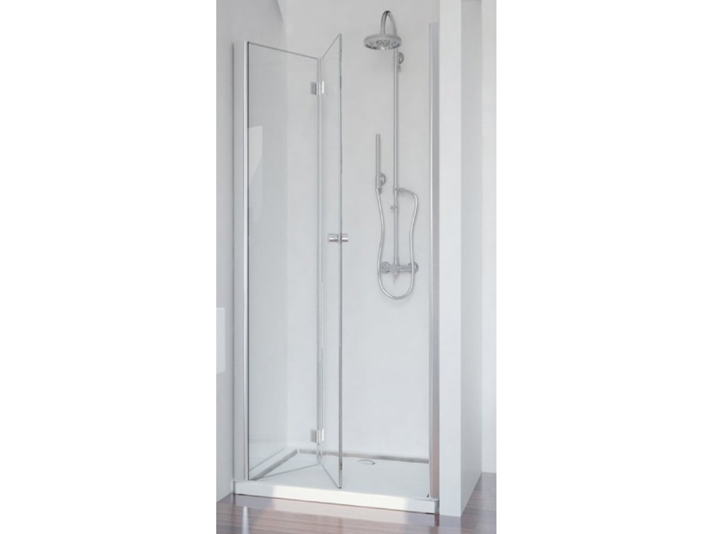 Sanotechnik Smartflex sprchové dveře, šířka 100cm, zalamovací + nástěnný profil (Šírka nástenného profilu Šírka nástenného profilu 3,4 - 4,5 cm, Umiestnenie dverí Pravé dvere)