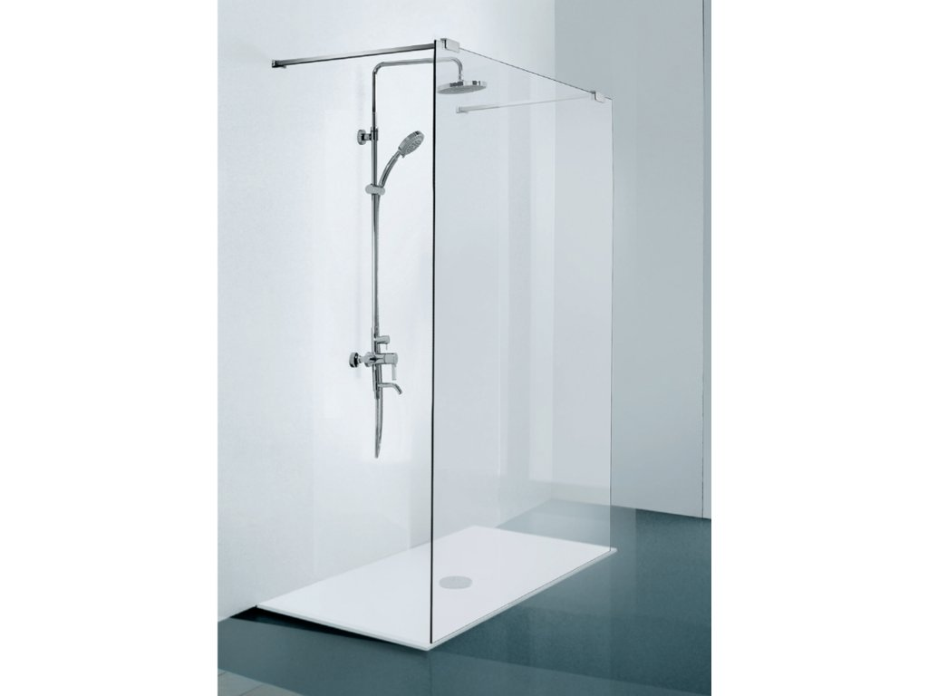 Sanotechnik Elegance sprchová zástěna walk-in, šířka 100cm, N8100 (Nástenný profil S nástenným profilom)