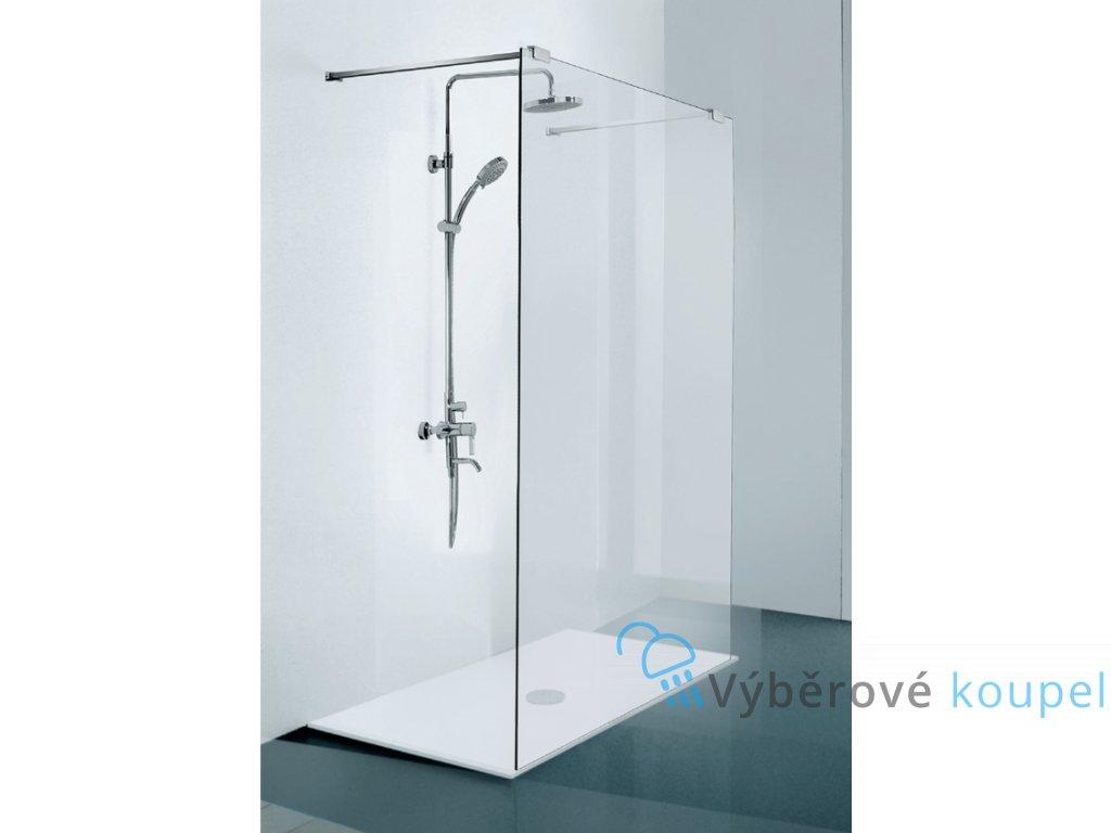 Sanotechnik Elegance sprchová zástěna walk-in, šířka 150cm, N8500 (Nástenný profil S nástenným profilom)