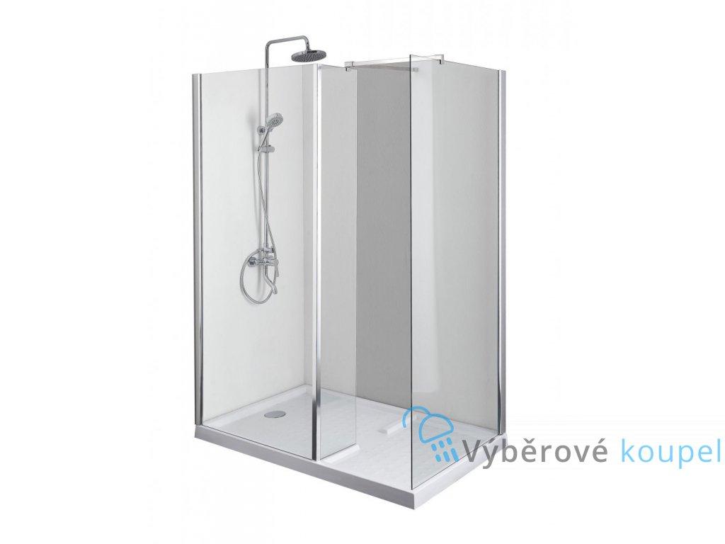 55523 sanotechnik elegance sprchova zastena vanicka 145x90 cm e129c p129