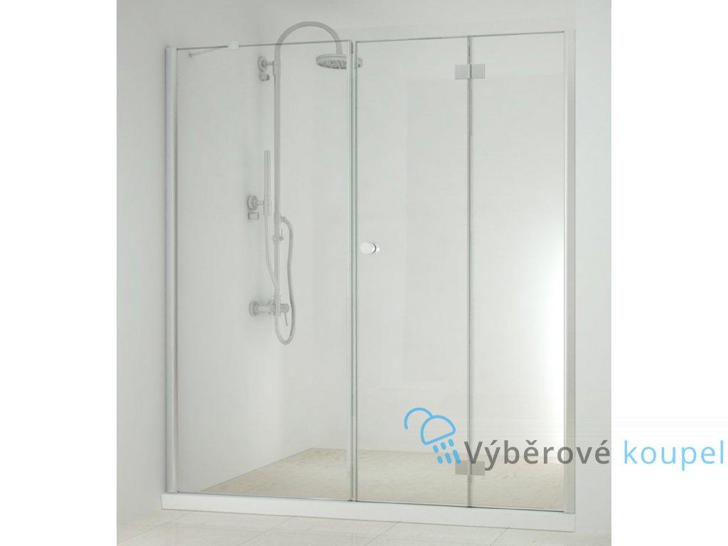 55532 sanotechnik smartflex sprchova zastena fix zalamovaci dvere sirka 150 220cm d1170 d1281fr