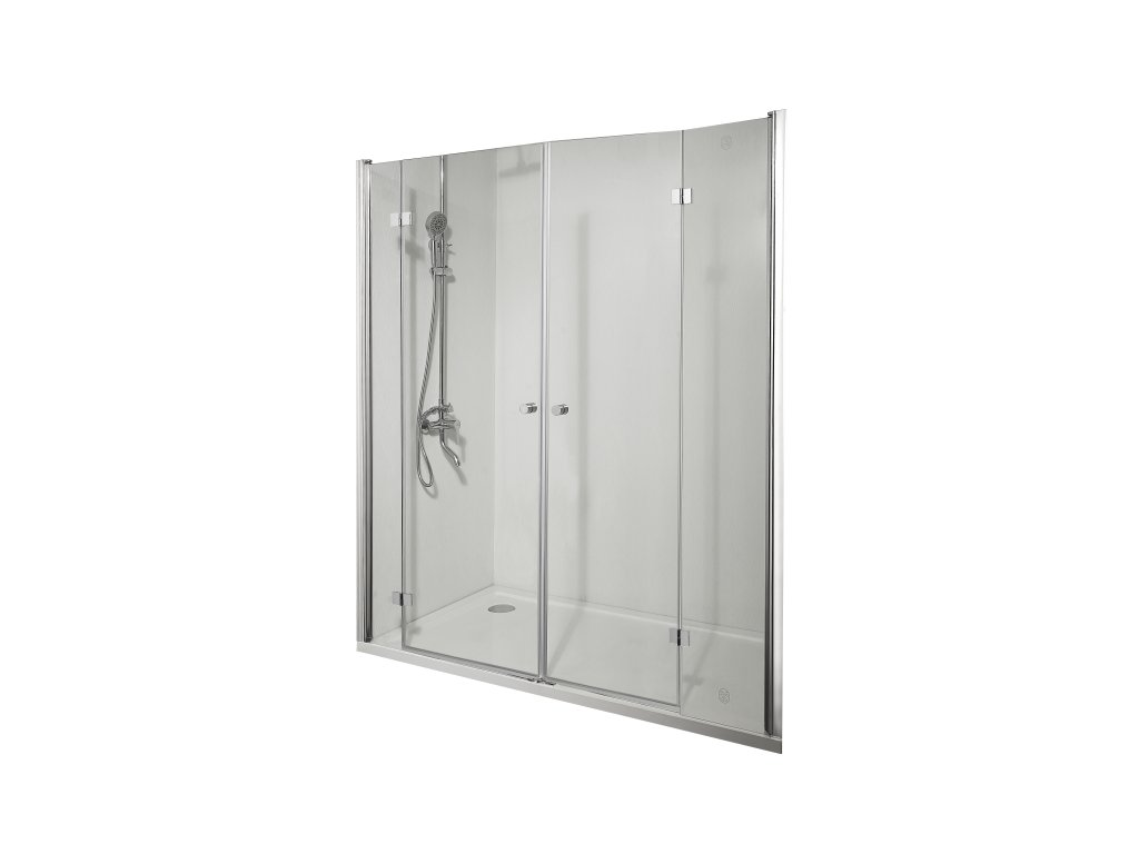 55535 sanotechnik smartflex sprchova zastena 2x zalamovaci dvere sirka 160 200cm d1280fl d1281fr