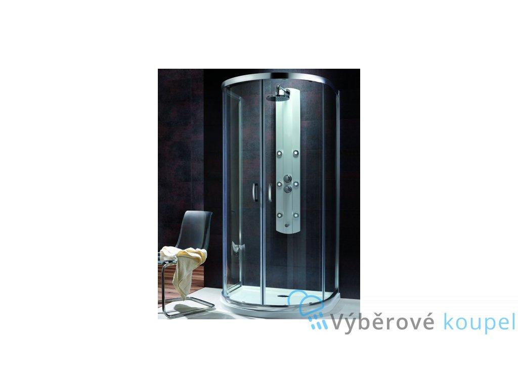 55547 radaway premium plus p sprchovy kout na rovnou stenu sirka 100cm posuvne dvere cire sklo