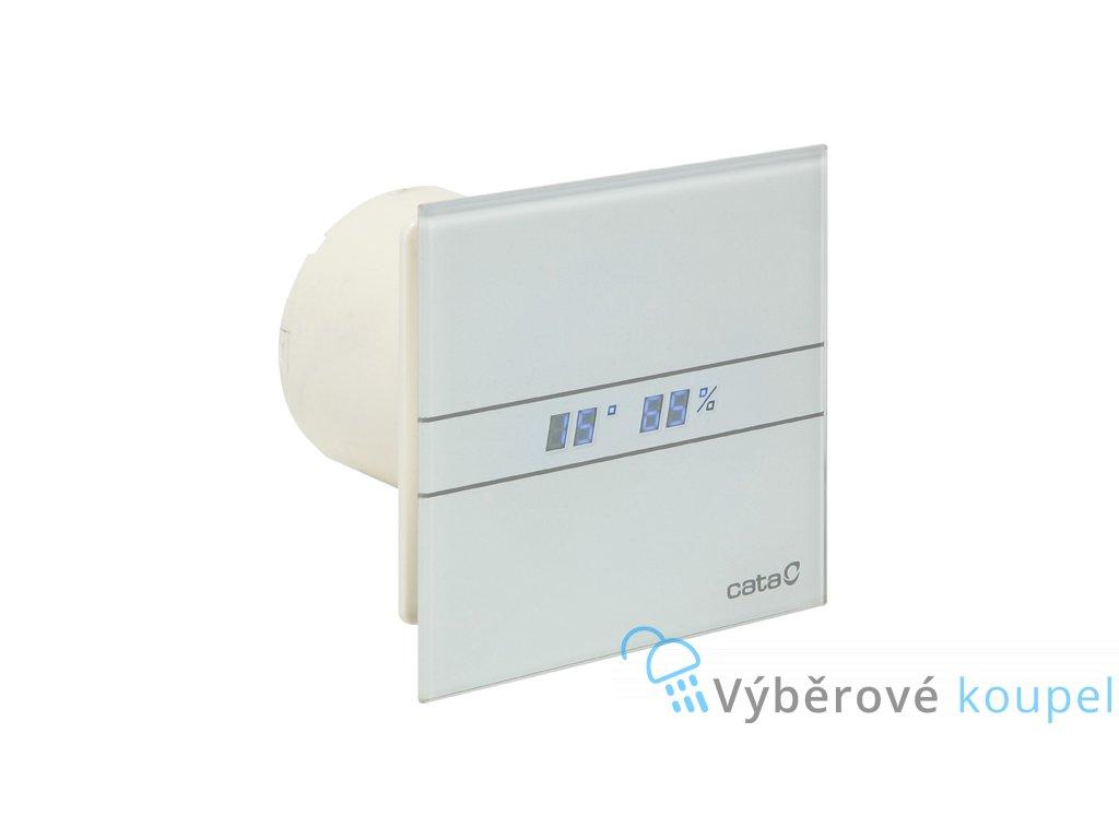 55577 cata e100 gth ventilator do koupelny s casovacem a vlhkomerem bily
