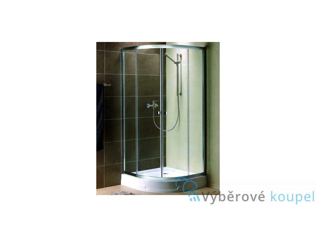 55826 radaway premium plus a1900 ctvrtkruhovy sprchovy kout sirka 100cm posuvne dvere cire sklo