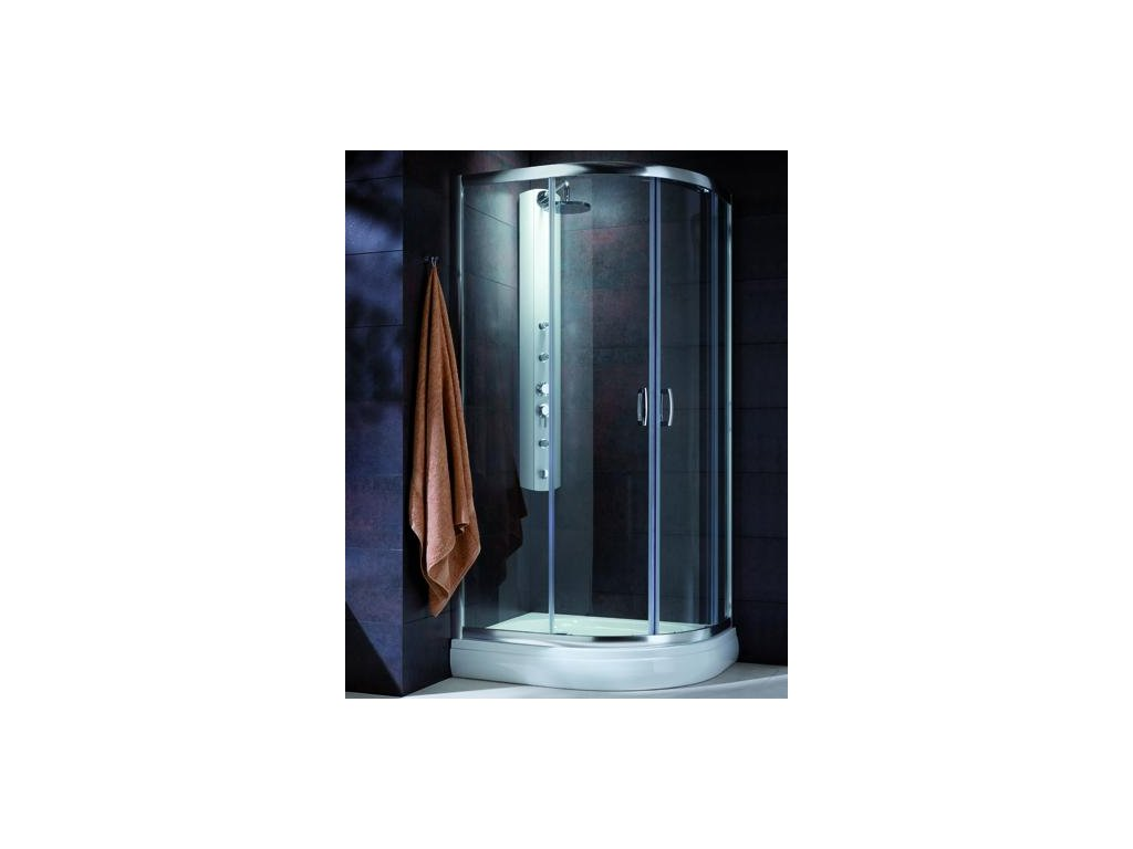 55862 radaway premium plus e1900 ctvrtkruhovy asymetricky sprchovy kout 90x80cm posuvne dvere cire sklo
