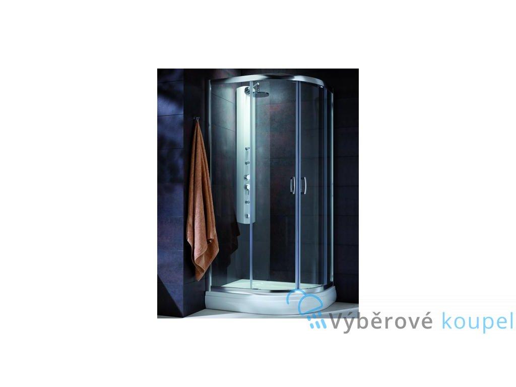 55865 radaway premium plus e1900 ctvrtkruhovy asymetricky sprchovy kout 100x80cm posuvne dvere cire sklo
