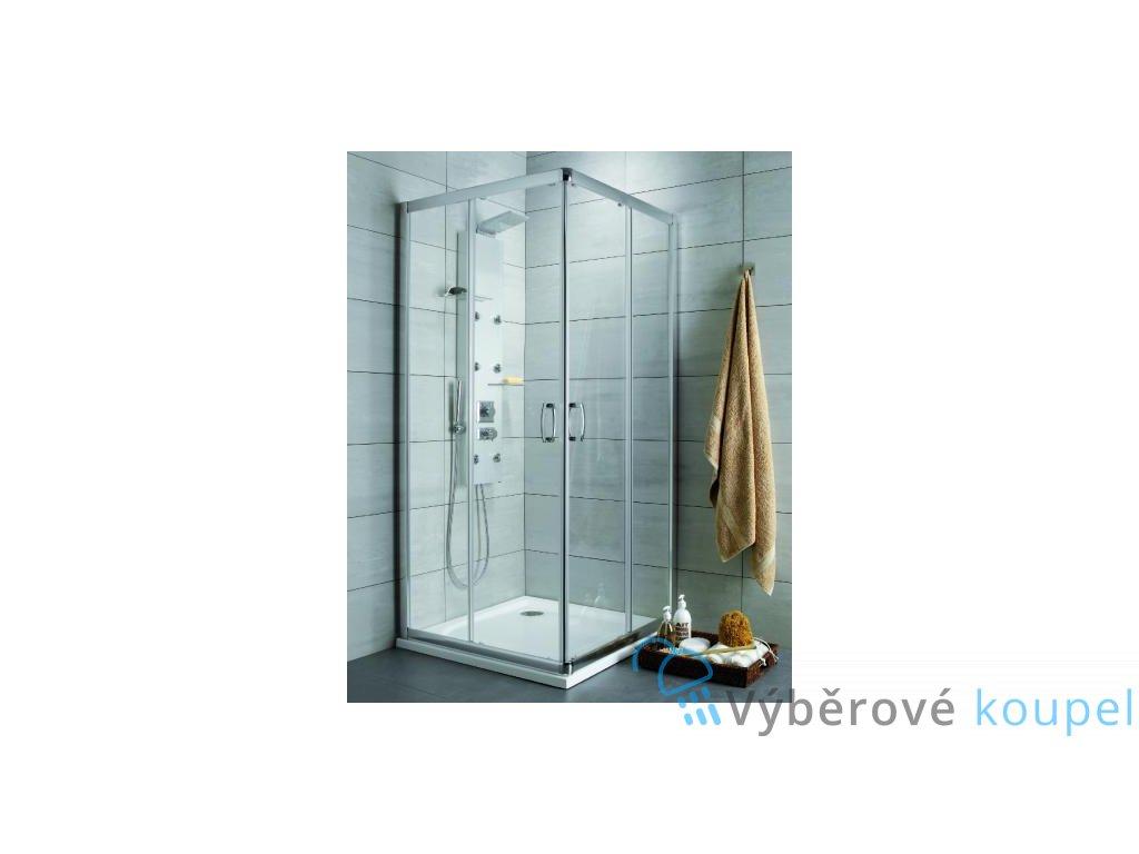 55874 radaway premium plus c d ctvercovy sprchovy kout sirka 80cm posuvne dvere cire sklo