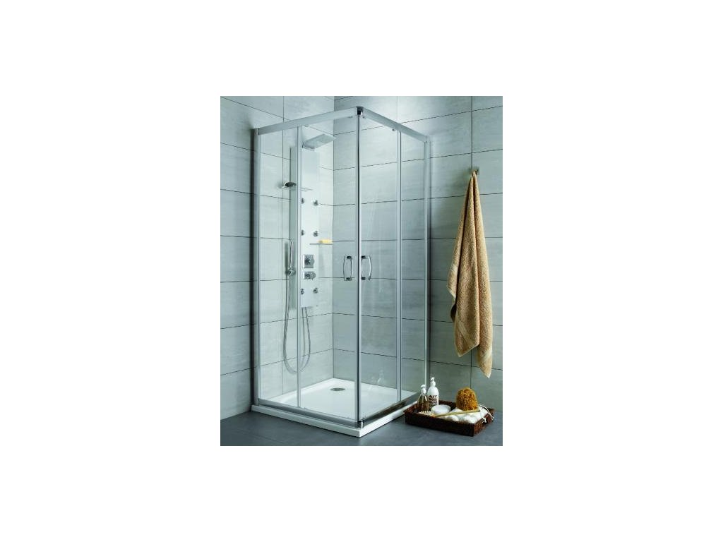 55880 radaway premium plus c d ctvercovy sprchovy kout sirka 100cm posuvne dvere cire sklo