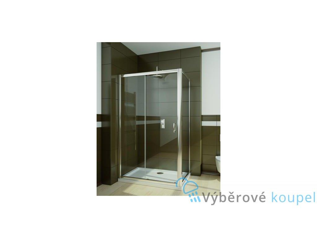 55913 radaway premium plus dwj s obdelnikovy sprchovy kout 100x80cm posuvne dvere cire sklo