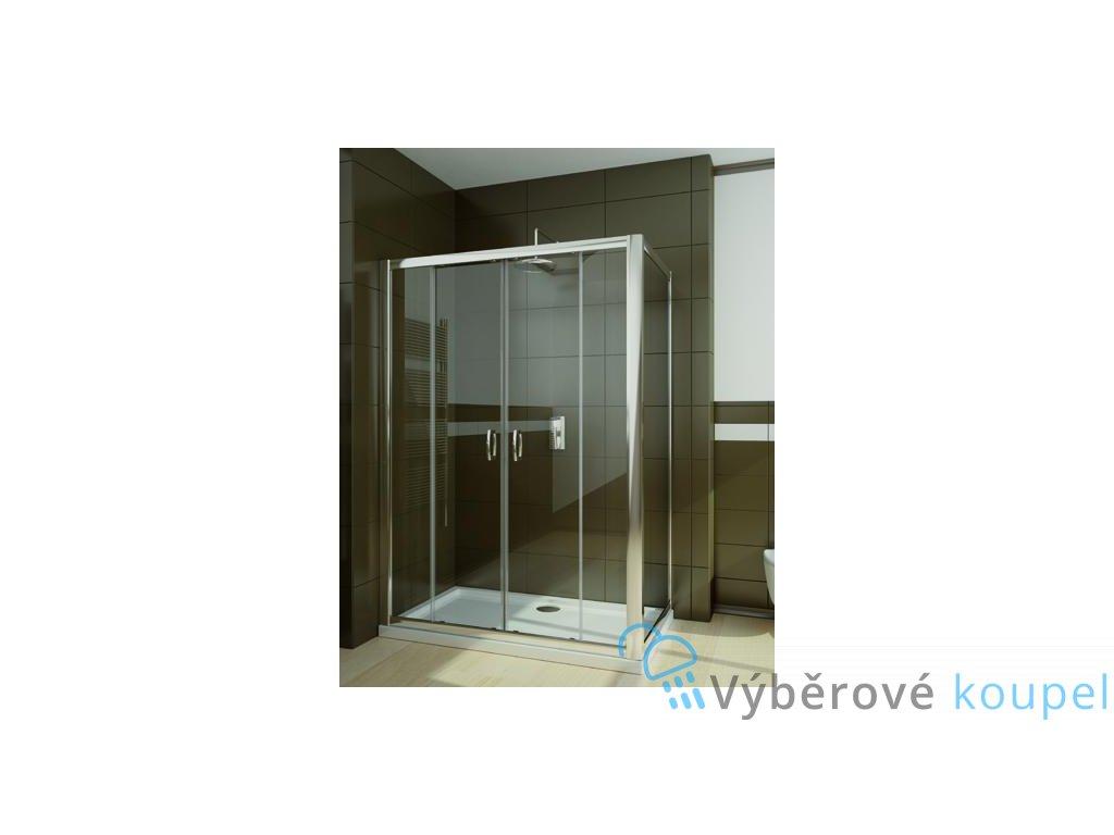 55943 radaway premium plus dwd s obdelnikovy sprchovy kout 140x80cm posuvne dvere cire sklo