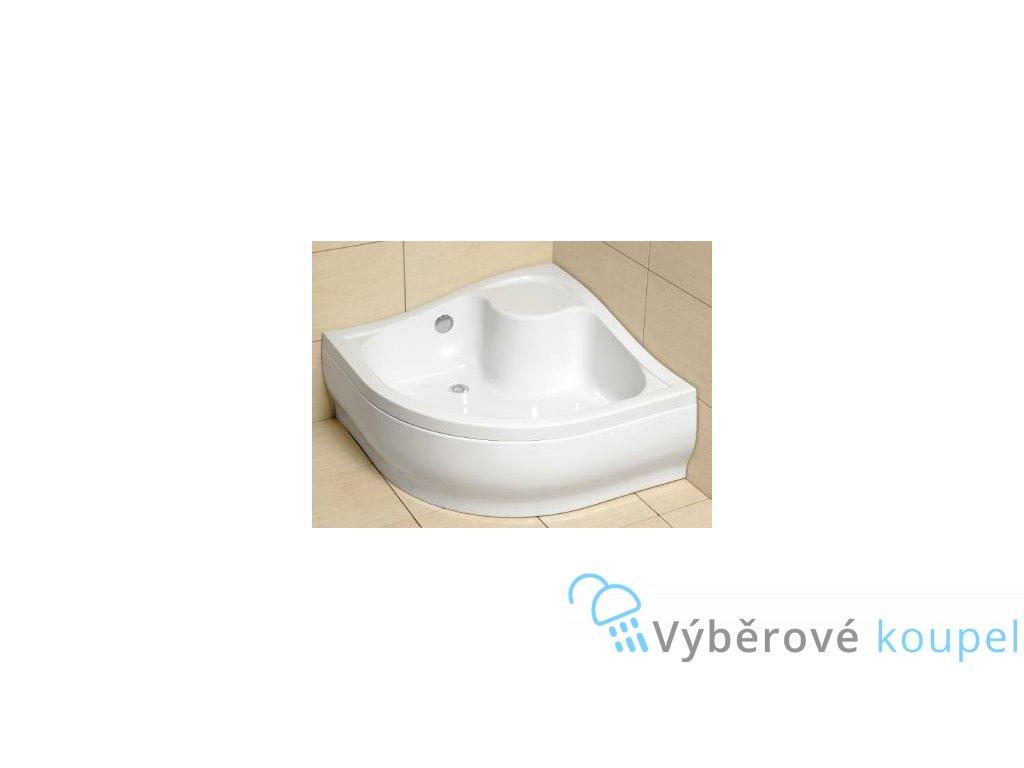 56006 radaway korfu a sprchova vanicka hluboka akrylat ctvrtkruh 80cm