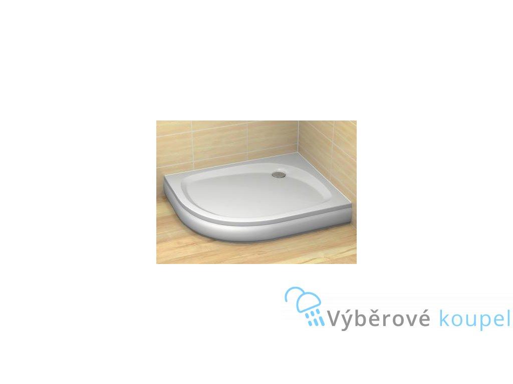 Radaway Patmos E sprchová vanička, akrylát, oblá, 100x80cm (Umiestnenie Umiestnenie vpravo)