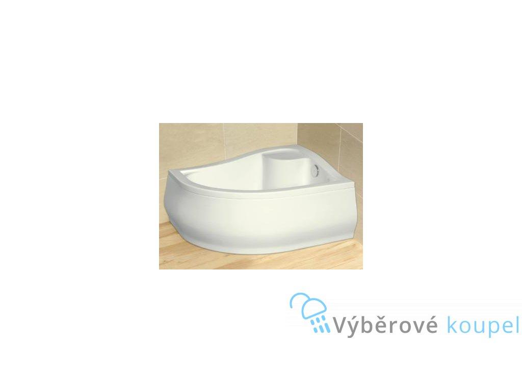 Radaway Korfu E sprchová vanička hluboká, akrylát, oblá, 100x80cm (Umiestnenie Umiestnenie vpravo)