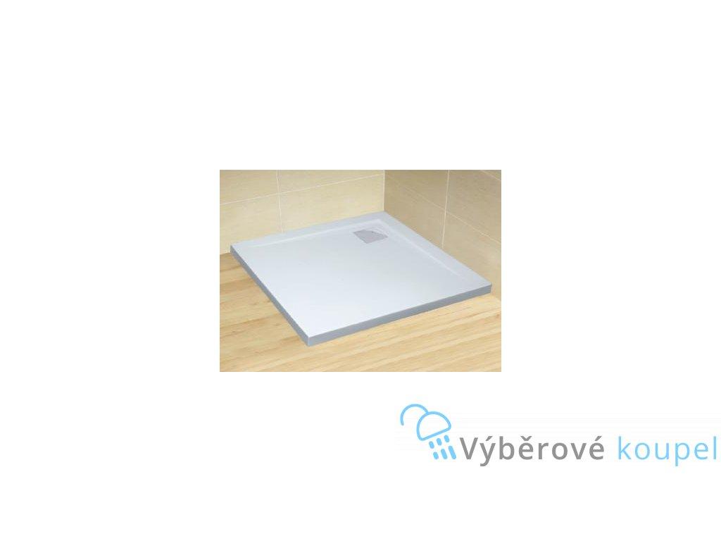 56051 radaway argos c sprchova vanicka s chromovym sifonem akrylat ctverec 100cm