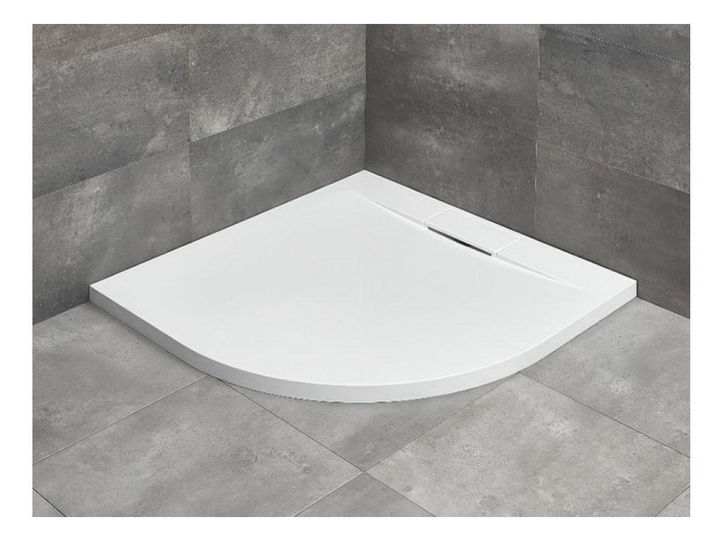 56078 radaway giaros a sprchova vanicka lity mramor ctvrtkruh 90cm