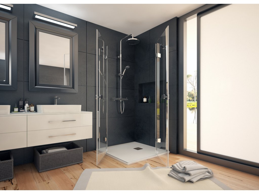 48557 19 48557 aquatek smart a4 stvorcovy sprchovy kut sirka 90cm otvarave dvere