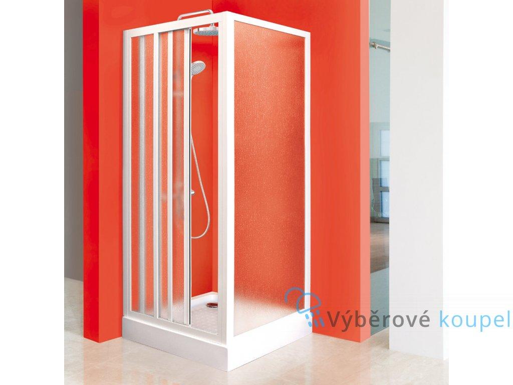 Aquatek Royal F1 80, pevná sprchová stěna, šířka 80cm (Farba skla Sklo grape)