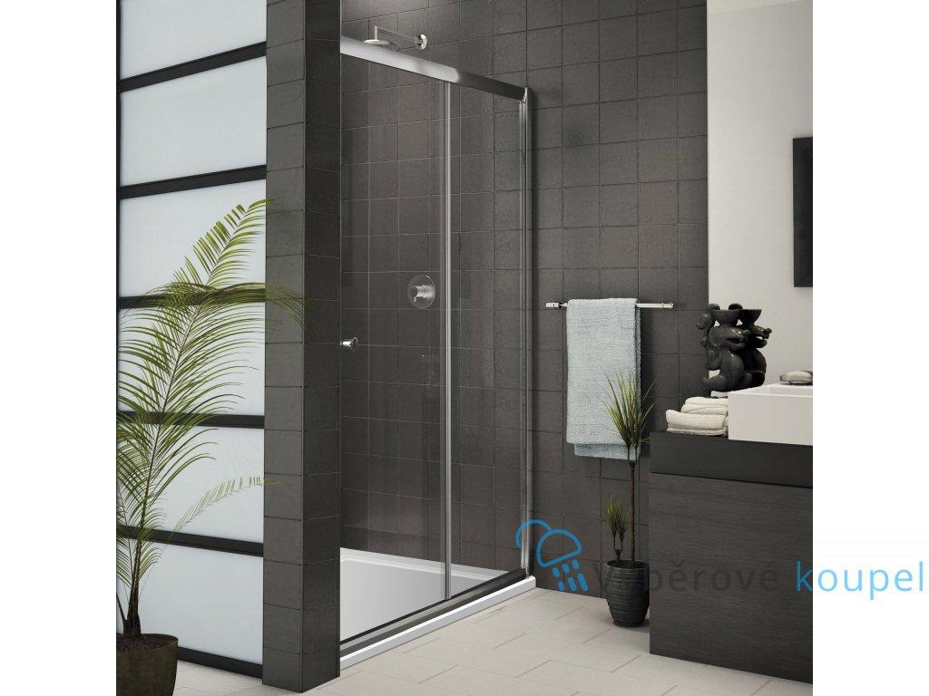 Aquatek Family B2 130, sprchové dveře, šířka 130cm, posuvné (Farba skla Sklo grape)