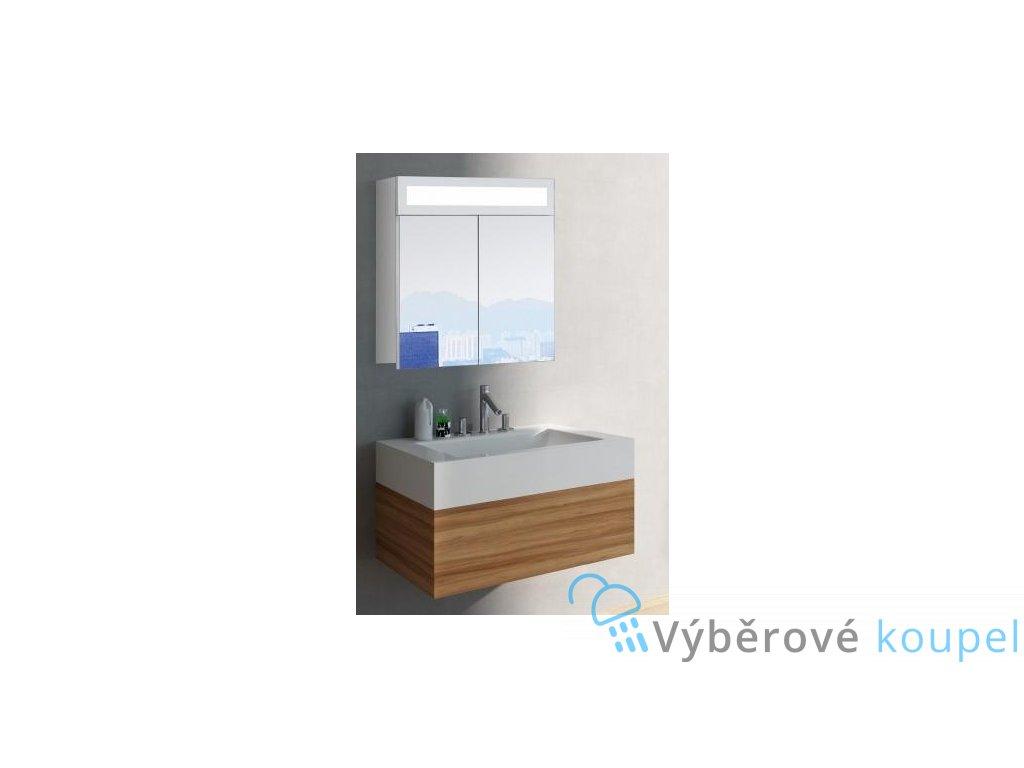 59282 hapa design miami zrcadlova skrinka 60cm bila s led osvetlenim