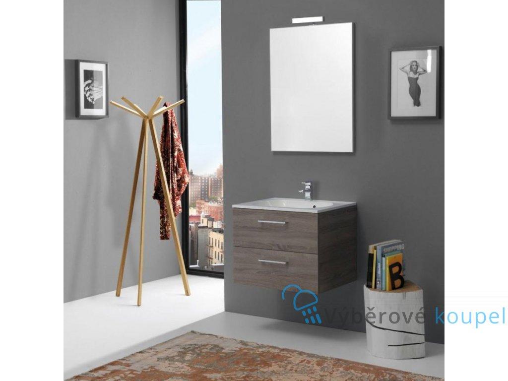 59771 kvstore boston koupelnovy nabytek 60cm se zasuvkami dub lanyz