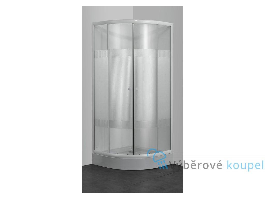 60332 sanotechnik ctvrtkruhovy sprchovy kout sirka 90cm posuvne dvere