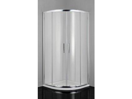 54821 sanotechnik pro line ctvrtkruhovy sprchovy kout sirka 80cm posuvne dvere cire sklo b8080c