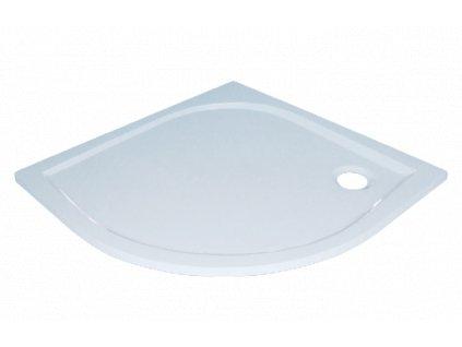 Sanotechnik Dita sprchová vanička, litý mramor, čtvrtkruh, 80cm, 20000 (Čelní panel S čelním panelem)