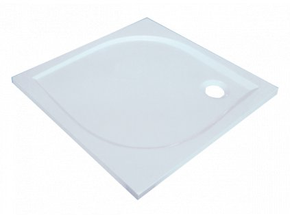 Sanotechnik Aneta sprchová vanička, litý mramor, čtverec, 80cm, 90000 (Čelní panel S čelním panelem)