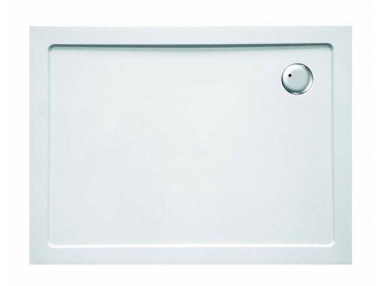 Sanotechnik sprchová vanička, SMC tvrzený polymer, obdélník, 100x80cm, odtok v rohu, SC1080S (Nožičky S nožičkami (12ks))