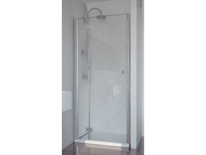 Sanotechnik Smartflex sprchové dveře, šířka 110cm, otevírací s pevnou částí + nástěnný profil (Šírka nástenného profilu Šírka nástenného profilu 3,4 - 4,5 cm, Umiestnenie dverí Pravé dvere)