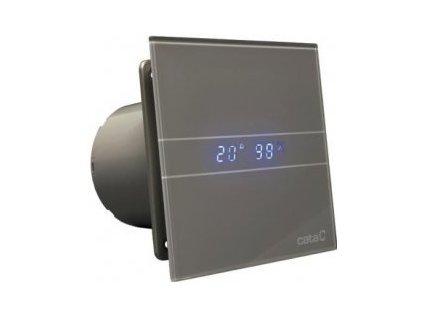 55580 cata e100 gsth ventilator do koupelny s casovacem a vlhkomerem stribrny