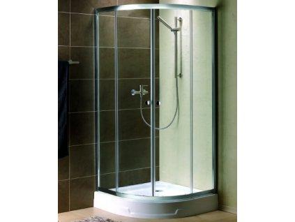 55823 radaway premium plus a1900 ctvrtkruhovy sprchovy kout sirka 80cm posuvne dvere cire sklo