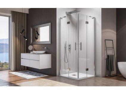 56945 aquatek crystal a4 ctvercovy sprchovy kout sirka 90cm oteviraci dvere