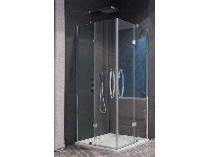 Aquatek Extra A4, čtvercový sprchový kout, šířka 90cm, otevírací dveře (Farba skla Sklo frost)