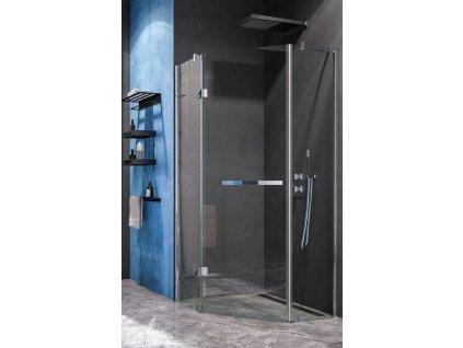 Aquatek Extra P3, pentagonální sprchový kout, šířka 90cm, otevírací dveře (Farba skla Sklo frost)