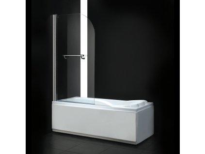 Aquatek Glass L1, vanová zástěna, 140x80cm, jednodílná (Farba skla Sklo frost)