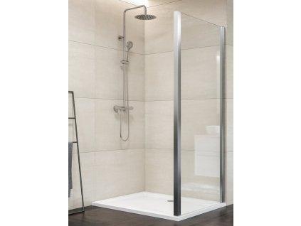 Aquatek Dynamic F1 70, pevná sprchová stěna, šířka 70cm (Farba skla Sklo číre)