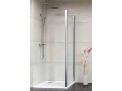 Aquatek Dynamic F6 70, pevná sprchová stěna, šířka 70cm (Farba skla Sklo číre)