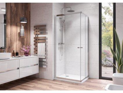Aquatek Holiday R4, obdélníkový sprchový kout, 90x70 cm, posuvné dveře (Farba skla Sklo číre)