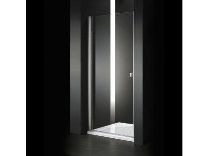Aquatek Glass B1 60, sprchové dveře, šířka 60cm, otevírací (Farba nástenného profilo Biely profil, Farba skla Sklo matné)