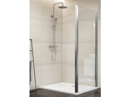 Aquatek Dynamic F1 80, pevná sprchová stěna, šířka 80cm (Farba skla Sklo číre)