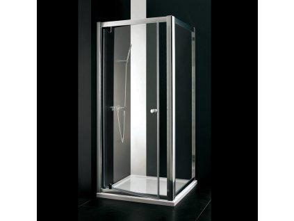 Aquatek Master F1 80, pevná sprchová stěna, šířka 80cm (Farba nástenného profilo Biely profil, Farba skla Sklo matné)