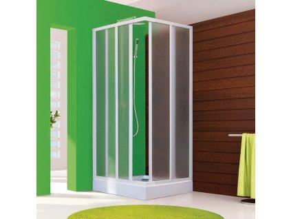 Aquatek Royal A4 80, čtvercový sprchový kout, šířka 80cm, posuvné dveře (Farba skla Sklo grape)