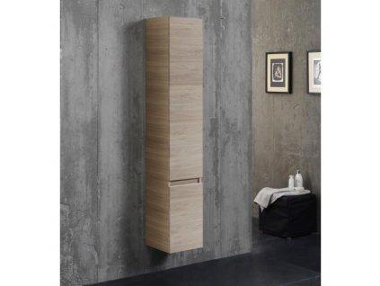 58418 kvstore berlin koupelnova skrinka vysoka zavesna svetlehnedy dub