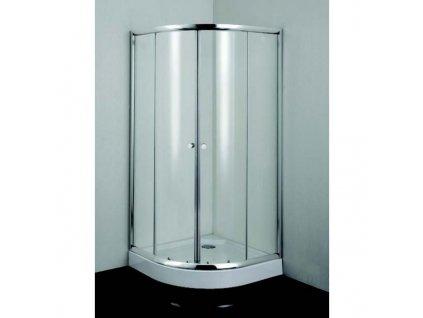 B2690C Sanotechnik Simply Flex štvrťkruhový sprchový kút, šírka 90cm, posuvné dvere
