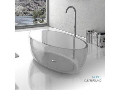 58856 bath italia clear round pryskyricova volne stojici vana 168 84 cm